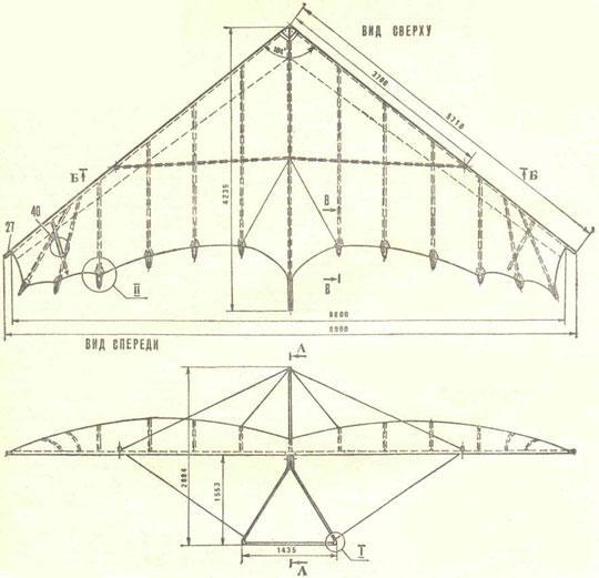 схема дельтаплана