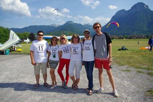 Азат (спорт-класс), Саша, Юля, Наталья, Петя (тим-лидер), Валя (спорт-класс).